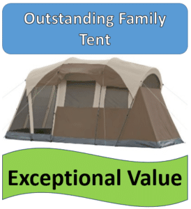 gray screened in tent - on best family tent list