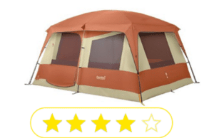 Pink gray family tent