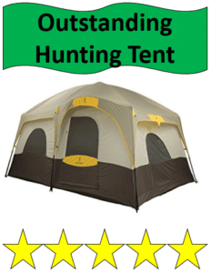 gray hunting tent