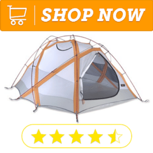 Popular gray and orange strap tent