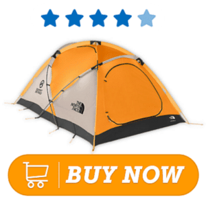 Orange winter camping tents