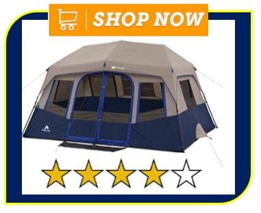 Ozark Trail 10-Person 2 Room Instant Cabin Tent - on best 10 person tent list