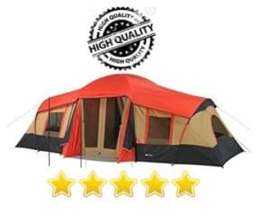 Ozark Trail 10 Person 3Room Cabin Tent w Front Porch