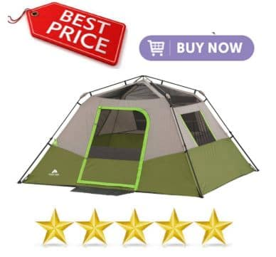 Ozark Trails 6 Person Instant Tent - Listed on best 6 man tents list