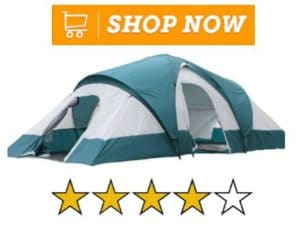 Semo Water Resistant 9 Person 3-Room Family Tent