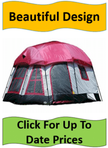 gray tent with pink tarp - best 3 room tents