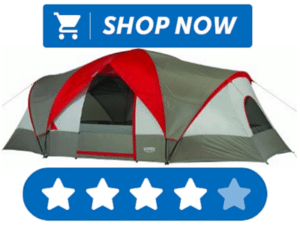 Red and gray large tent