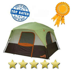 Gray, black, and green tent - Best 6 man tent