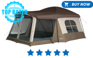 Green and gray family tent