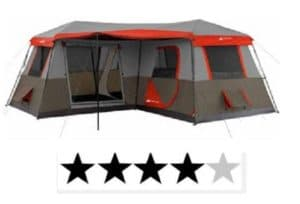ozark Trails 16 x 16 instant cabin tent #2 ranked family instant tent