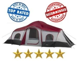 ozark trails 10 person family tent - best 10 person tents