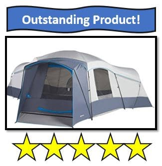 16-Person Weather Resistant Ozark Trail Tent - also on the best 3 room tents list