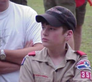 boy scout at camp