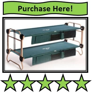 Disc-O-Bed Cam-O-Bunk Cot with2 Organizers, Large - best portable bunk beds