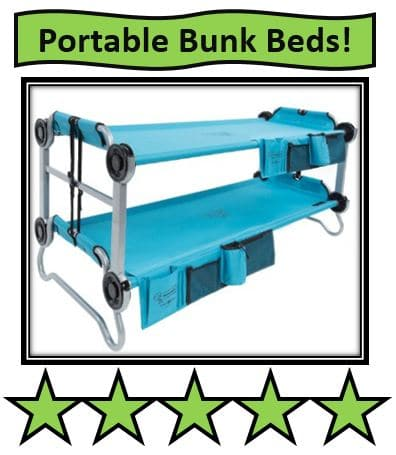 Disc-O-Bed Youth Kid-O-Bunk with Organizers - Teal