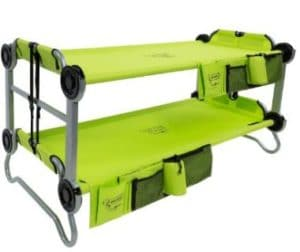Lime Green Portable Bunk Cot for Camping