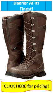 Lace up hunting boots