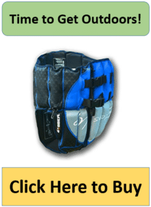 blue and silver upside down life jacket