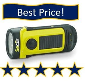 secur-hand-crank-solar powered flash light