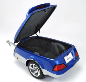 blue motorcycle cargo trailer