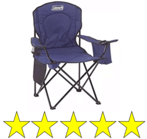 blue coleman camping chair