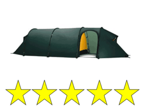 green expedition tent