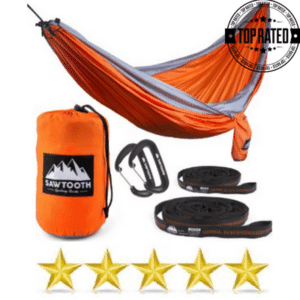 Orange Camping Parachute Hammock