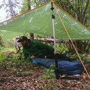 Outdoor tarp camping shelter