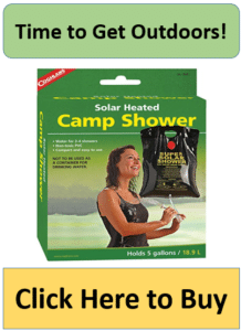 camp shower in green box