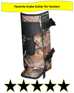 snake gaiters for hunters