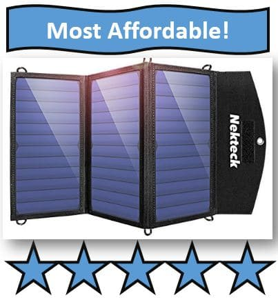 Nekteck 20W Solar Charger - affordable solar charger