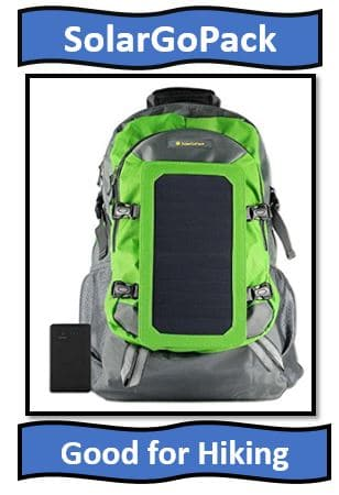 SolarGoPack Solar Powered Backpack.