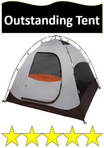 gray and silver ALPS 3 man tent