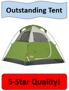 green and olive dome tent
