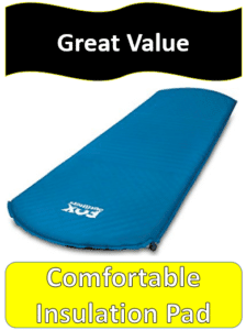 blue self inflating mat