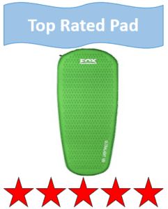 green foam camping pad