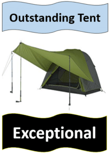 green tent with tarp