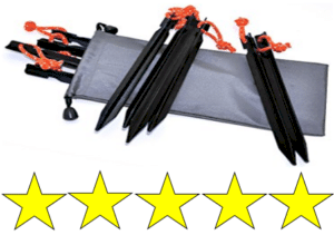 Bagged tent stakes