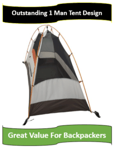 One person mountaineering tent