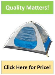 blue and gray 3 man tent
