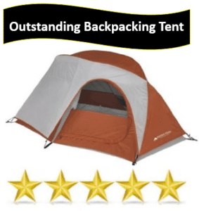 Orange & gray backpacking tent