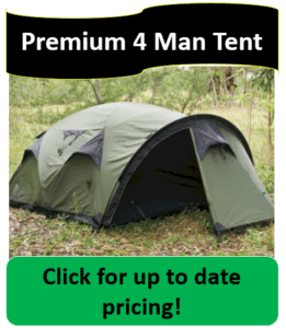 cave tent in woods