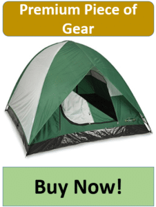 green 3 man dome tent