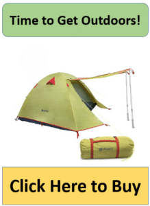 green 4 man backpacking tent with canopy