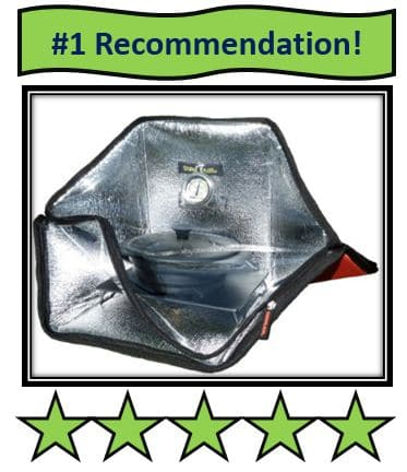 mini sunflair solar cooker - on list of best solar cookers