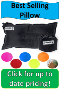 black air pillow with color samples