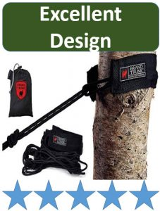 grand trunk tree strap setup on tree