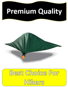 Green off ground tent