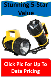 pair of industrial flashlights