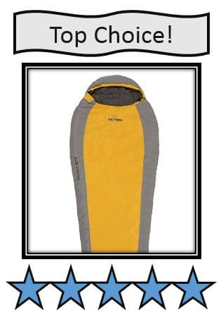 Trailhead +20°F - On list of best hiking sleeping bags